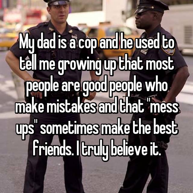 growing up with police officer parents
