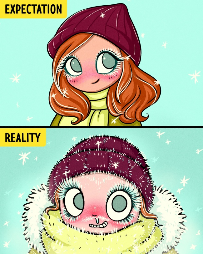 Girls in winter