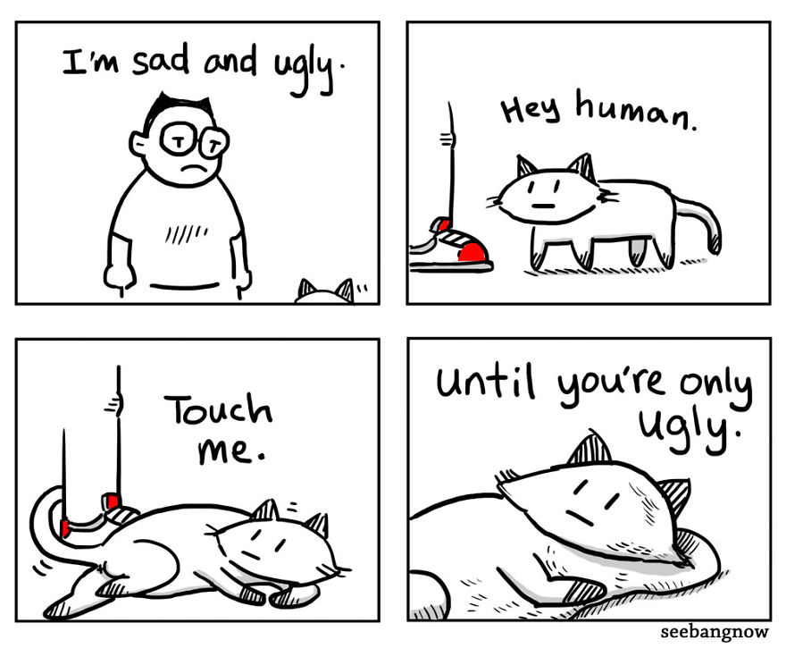 15 Funny Comics That Shows The Reality Of Having A Cat As Pet