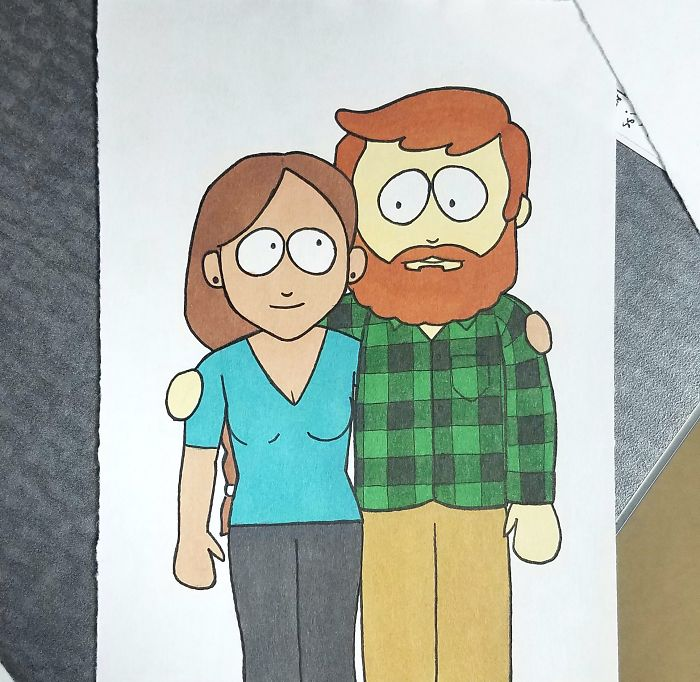 Boyfriend Draws His Girlfriend In 10 Different Cartoon Styles