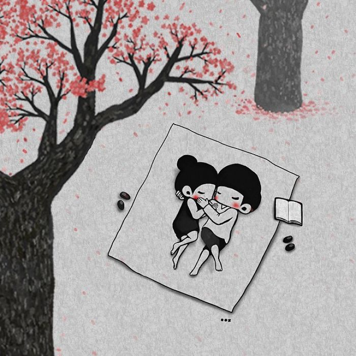 Korean Artist Shows What What Falling In Love More And More Each Day Seems Like
