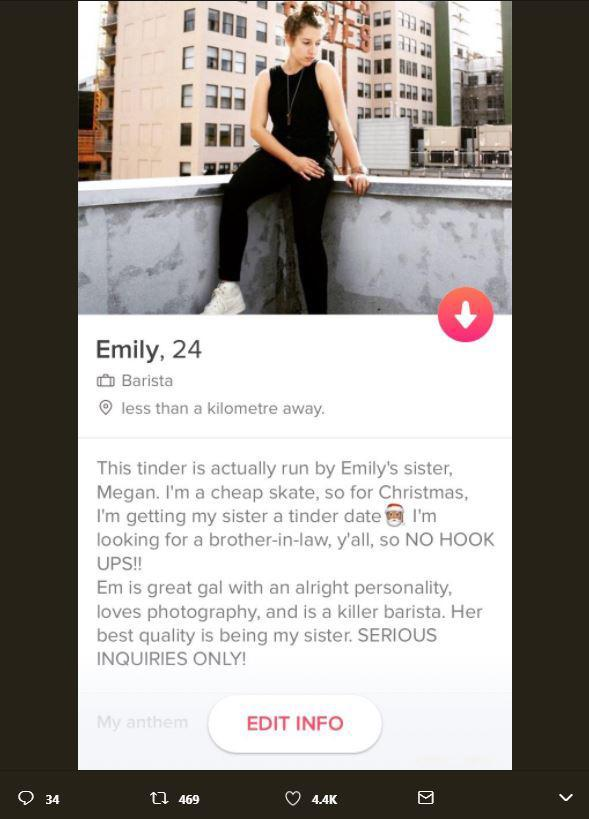 tinder matches for sister