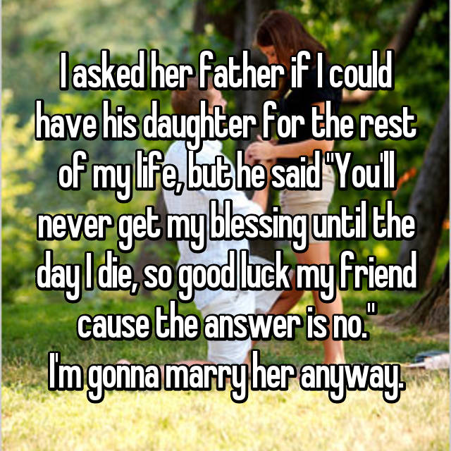 blessings from girls' father
