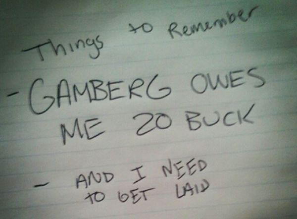 Hilarious Drunk Notes