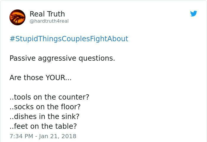 Immensely Stupid Things Couples Fight About