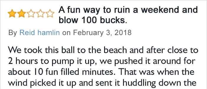 Disappointed Customer Posted A Review Of Giant Inflatable Ball On Amazon And Internet Can't Stop Laughing