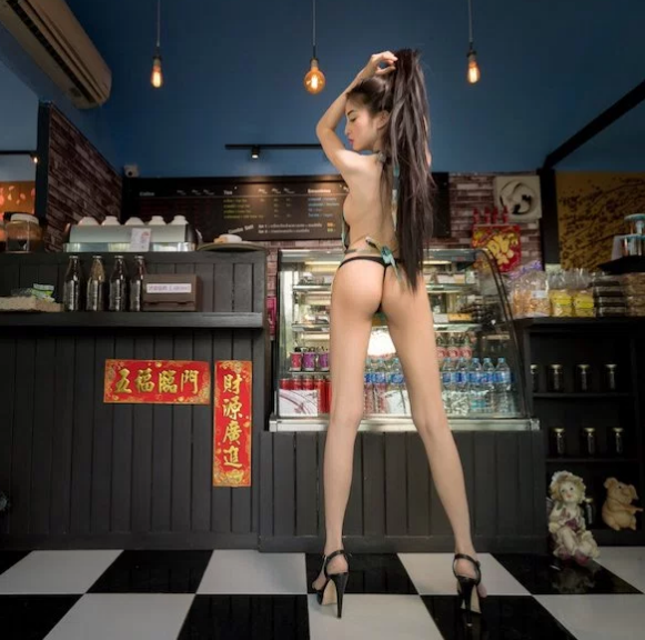 Thai coffee Shop Waitress