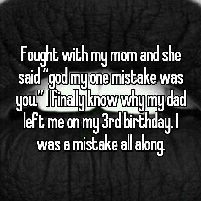 kids share that their birth was a mistake