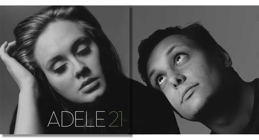 Guy Photoshops Himself Outside The Frames Of Famous Music Album Covers And The Result Is Amusing