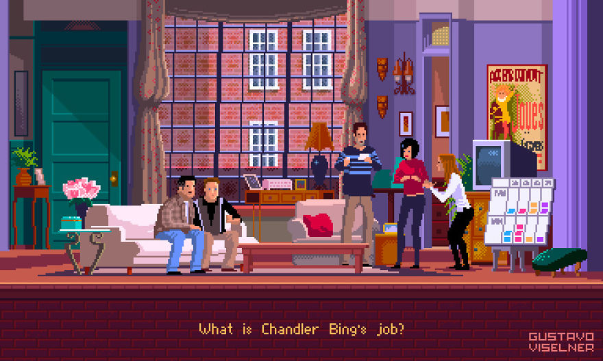 Pixel Artist Made Game Scenes Based On Popular Tv Series And Movies