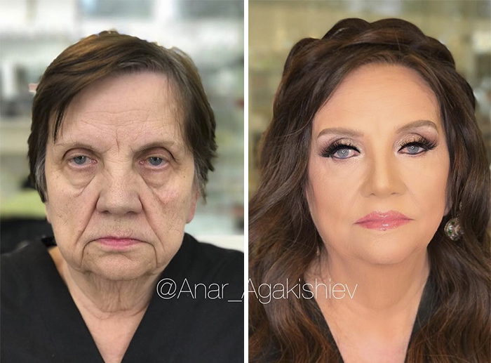 Makeup Artist Turns His Clients As Old As 80 Look Young And Shows How Powerful Makeup Is!