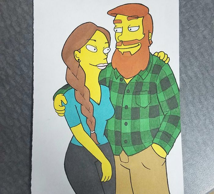 Boyfriend Draws His Girlfriend In 10 Different Cartoon Styles