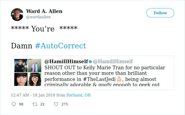 Grammar Nazi Tries To Correct Hamill For His Grammar On Twitter, Regrets It Immediately