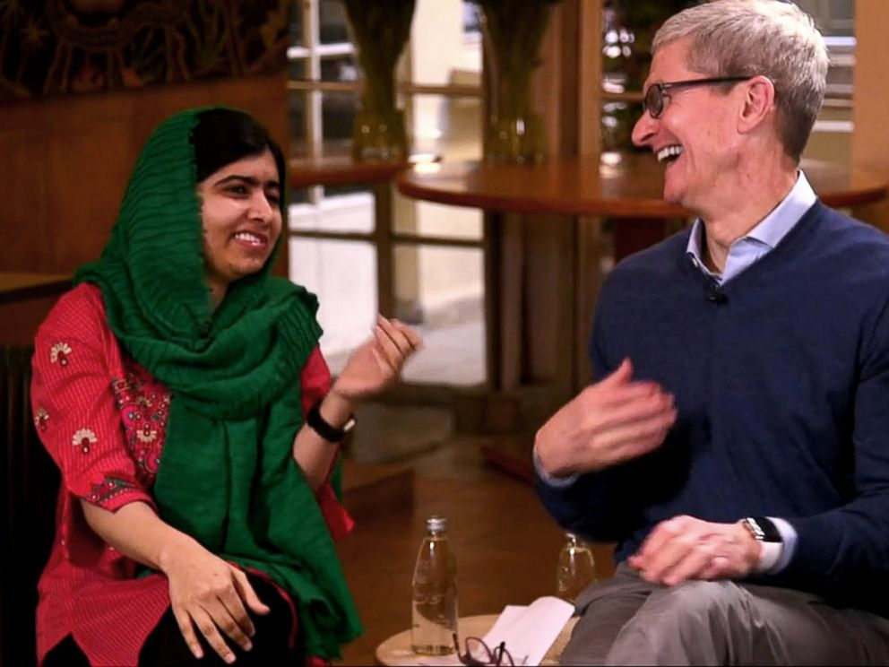 Tim Cook and Malala Are Joining Forces To Get 100,000 underprivileged Girls Into School