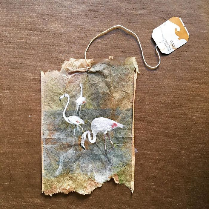 This Artist Uses Tea Bags As Her Diary And The Result Is Mind Blowing