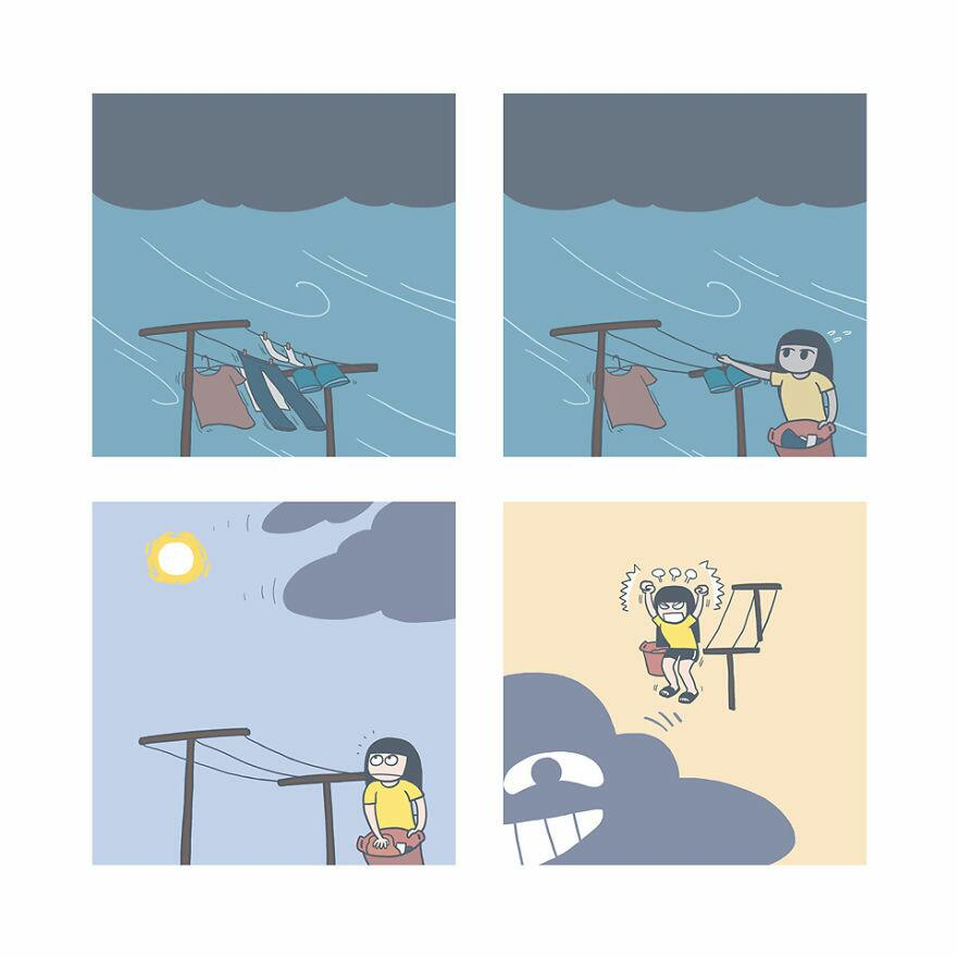 Funny Comic Series Showing How It Feels Like When Your Long-Awaited Vacation Is Destroyed