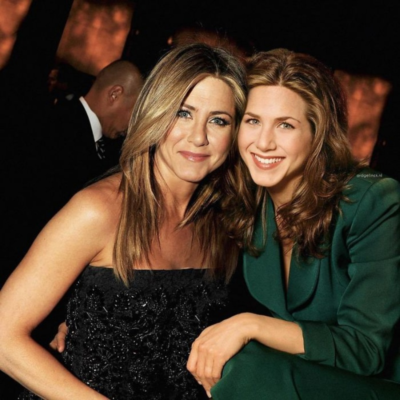 celebrities with younger selves