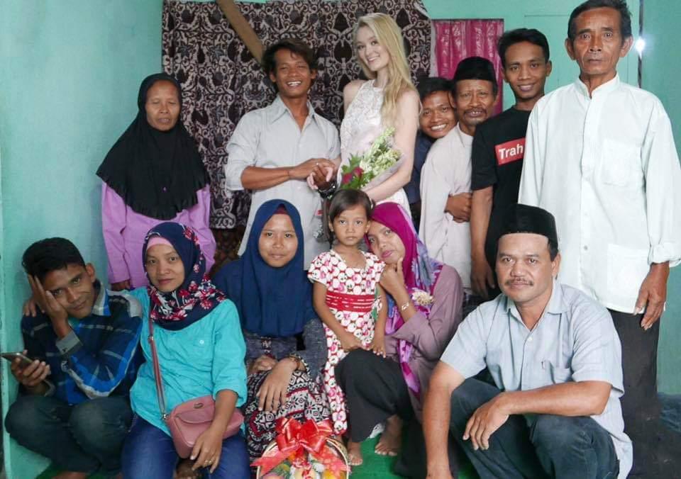 Indonesian man and English girl