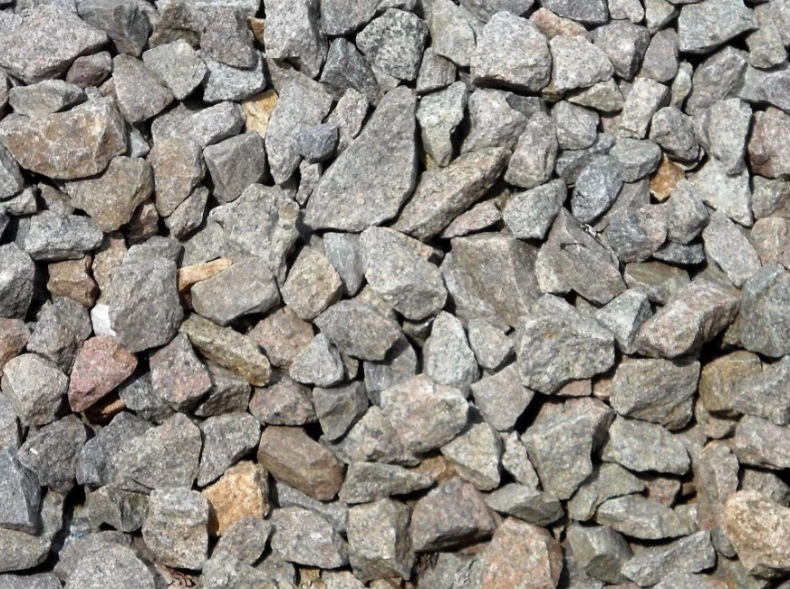 crushed stones placed on railway tracks