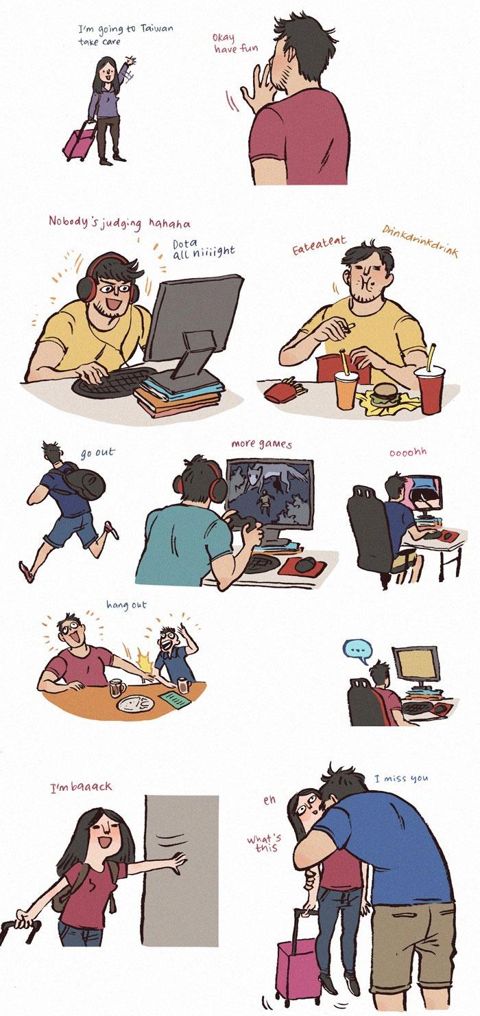 Illustrations Nerd Giant Boyfriend